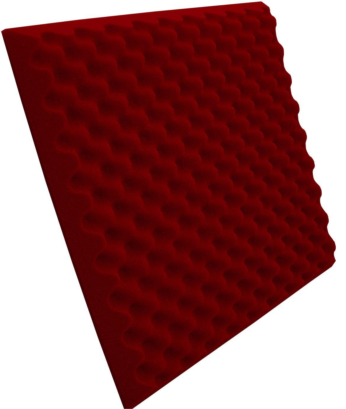Espuma Perfilada - Kit 8 - Vermelho - 50mm (2m²)  - Loja SPL Acústica