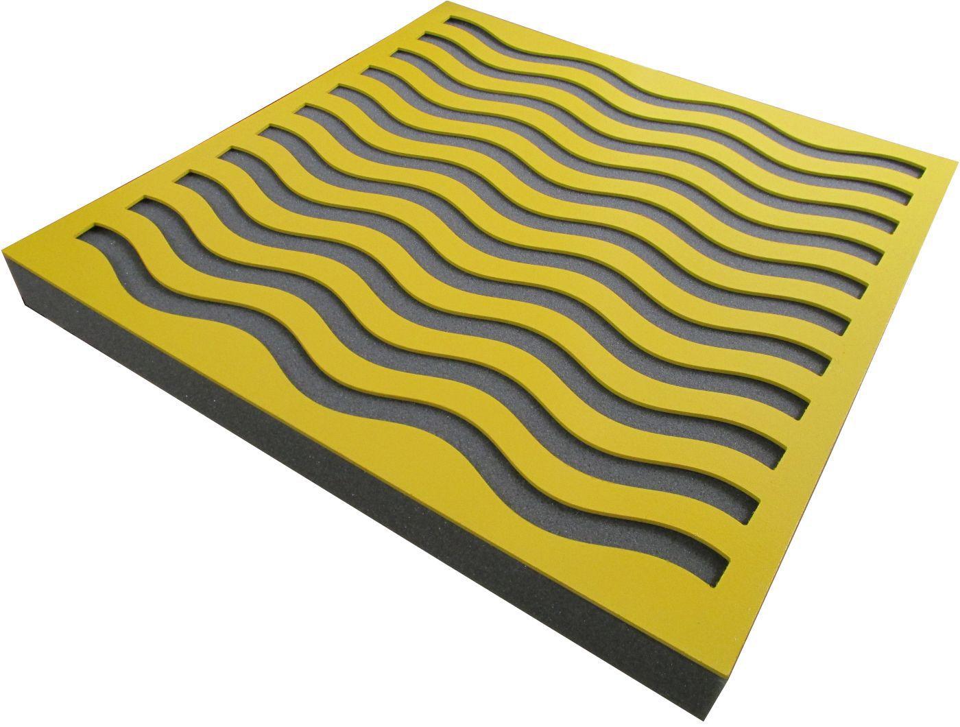 Painel Acústico Rev Decor - Waves - 4 peças - 1m²  - Loja SPL Acústica
