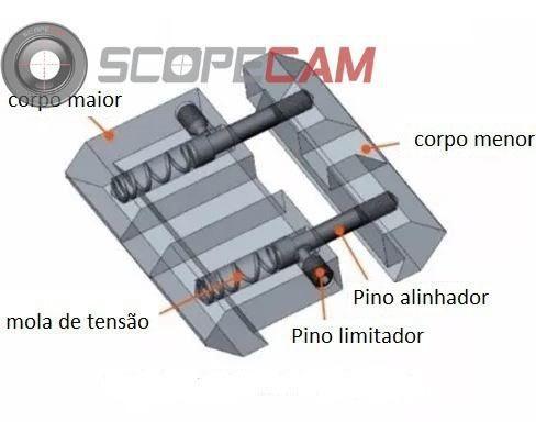 Adaptador De Trilho 11mm Para 20mm