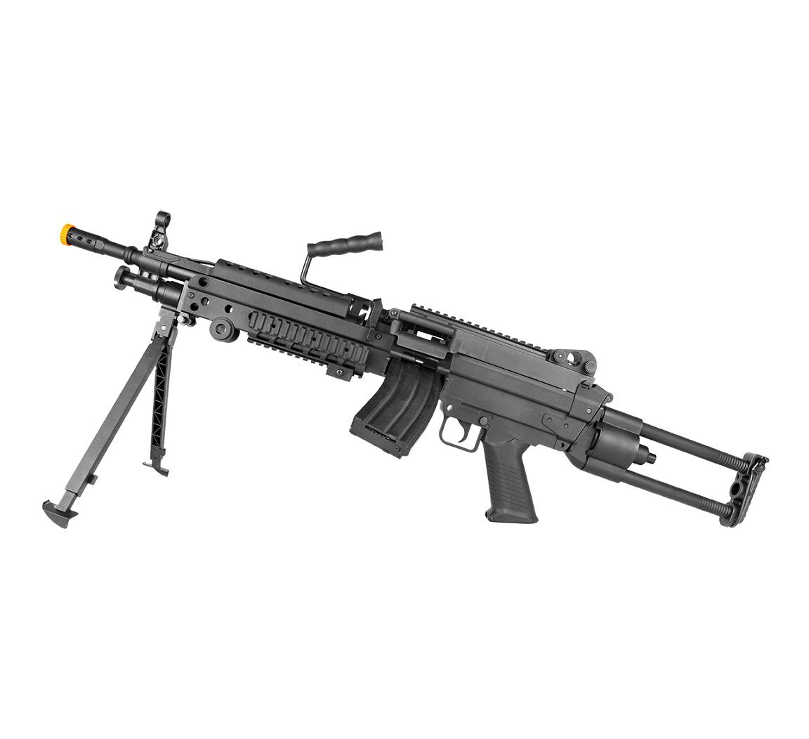 AIRSOFT RIFLE LMG M249 LIGHT ELET 6MM