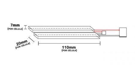 Bateria para Airsoft LiPo 1100mAh 7.4V 2S (2 Packs) 20/40C