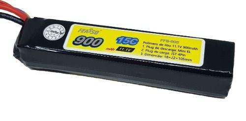 Bateria Airsoft Lipo 11.1v / 900mah 15c - Aeg Ffb-005
