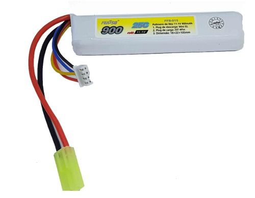 Bateria Lipo 11.1v 900 Mha Airsoft Aeg Ffb-015