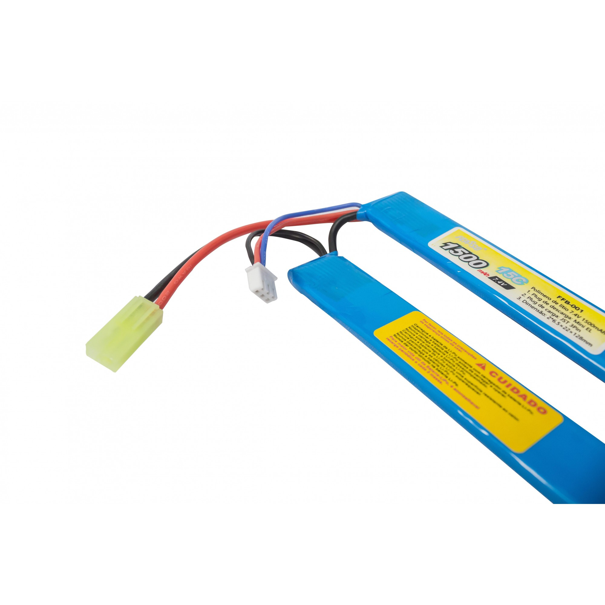 Bateria Lipo 7,4v 1500 Mha  Ffb-001