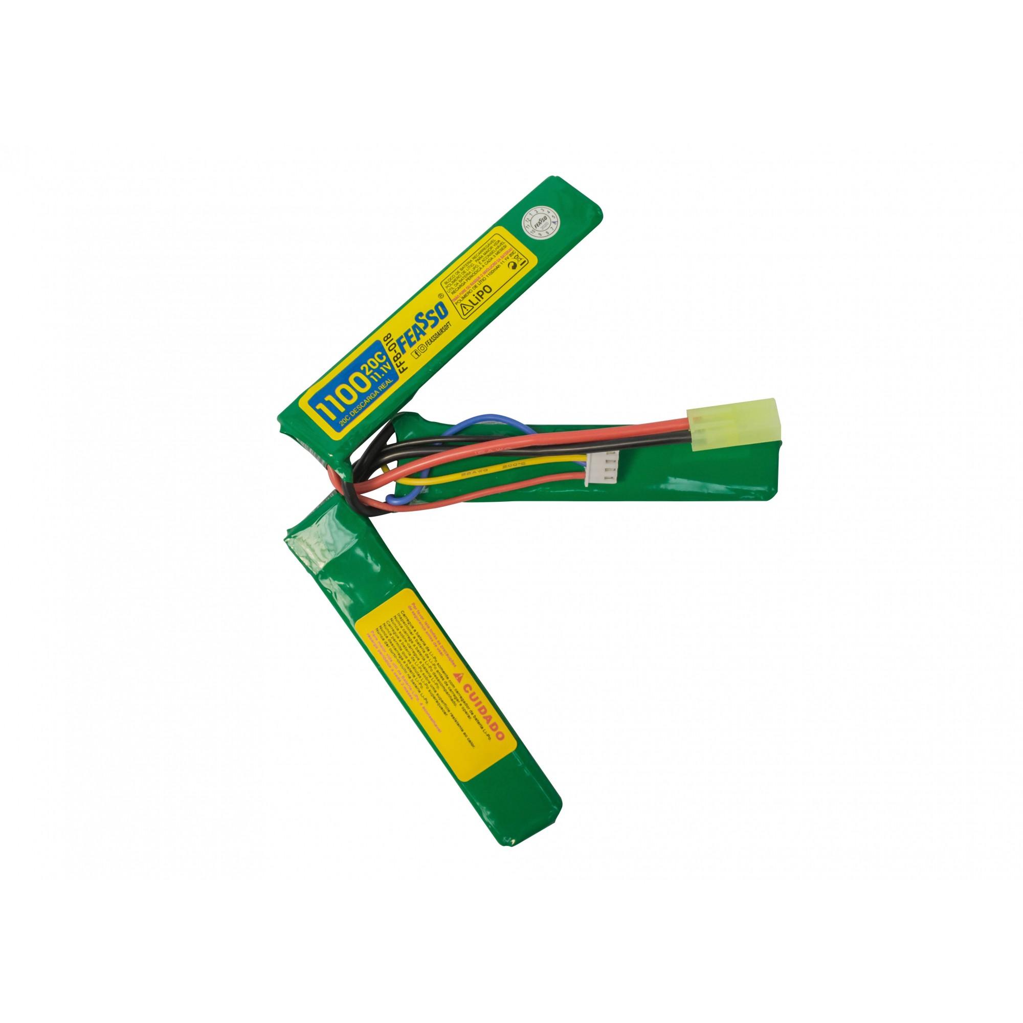 Bateria Lipo Para Airsoft 11.1v 1100mah 20c Ffb-018