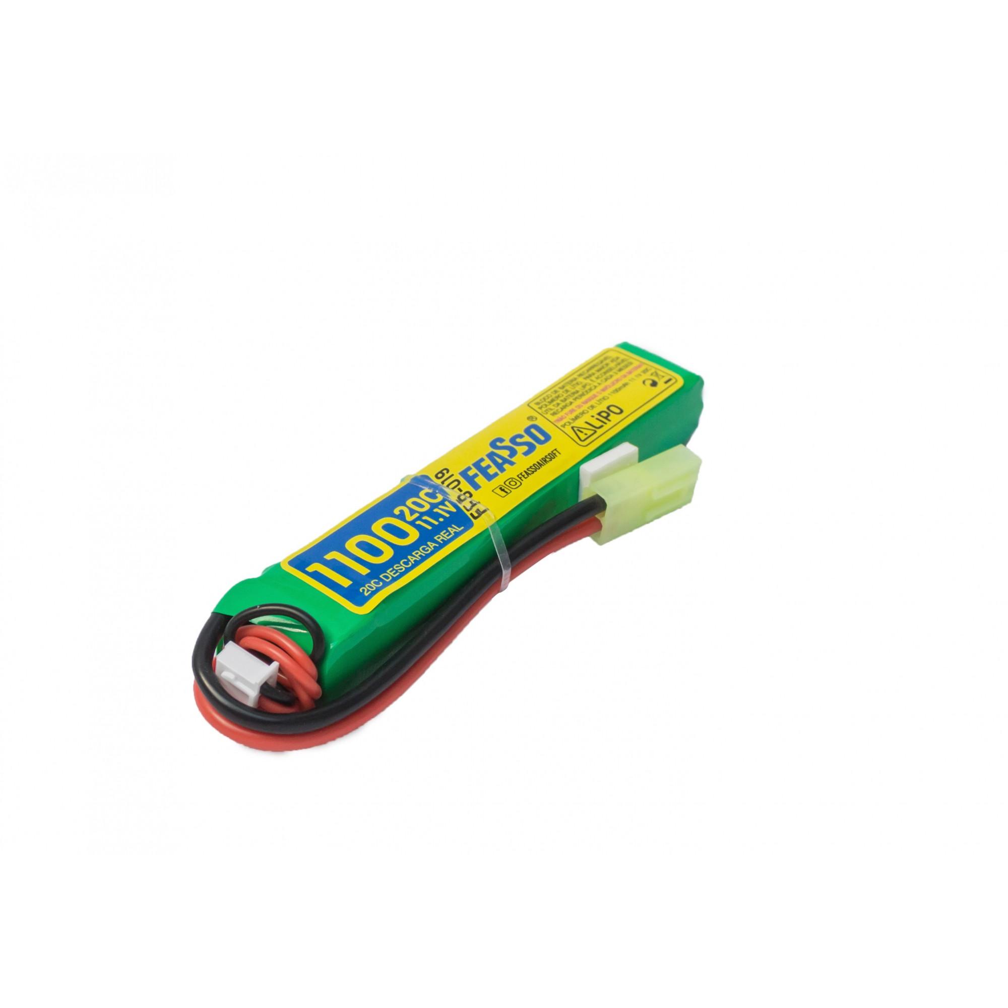 Bateria Lipo Para Airsoft 11.1v 1100mah 20c Ffb-019
