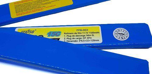 Bateria Lipo Para Airsoft 11.1v 1500mah 15c Ffb-002
