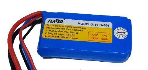 Bateria Para Airsoft 7.4v 1200mah 15c Feasso Ffb-006