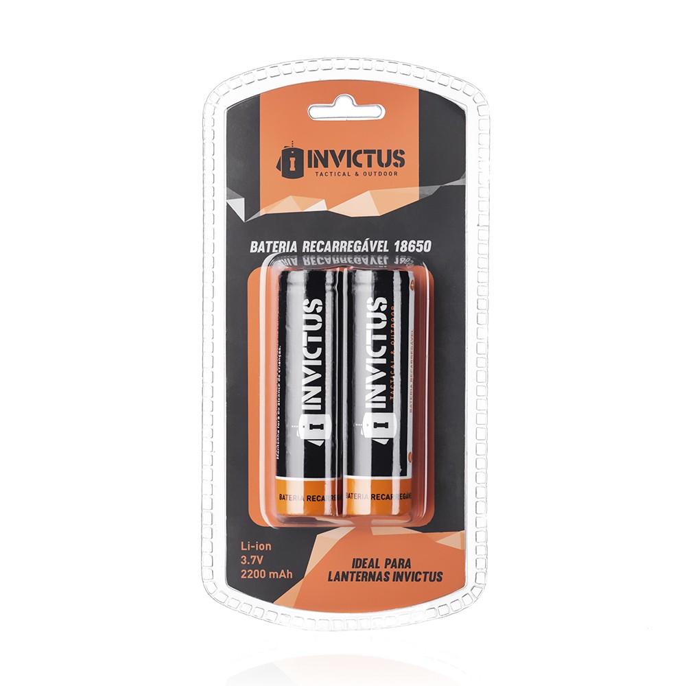 Bateria Recarregável Invictus 18650