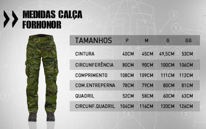 Calça Tática Combat 911 Forhonor Camuflado AU