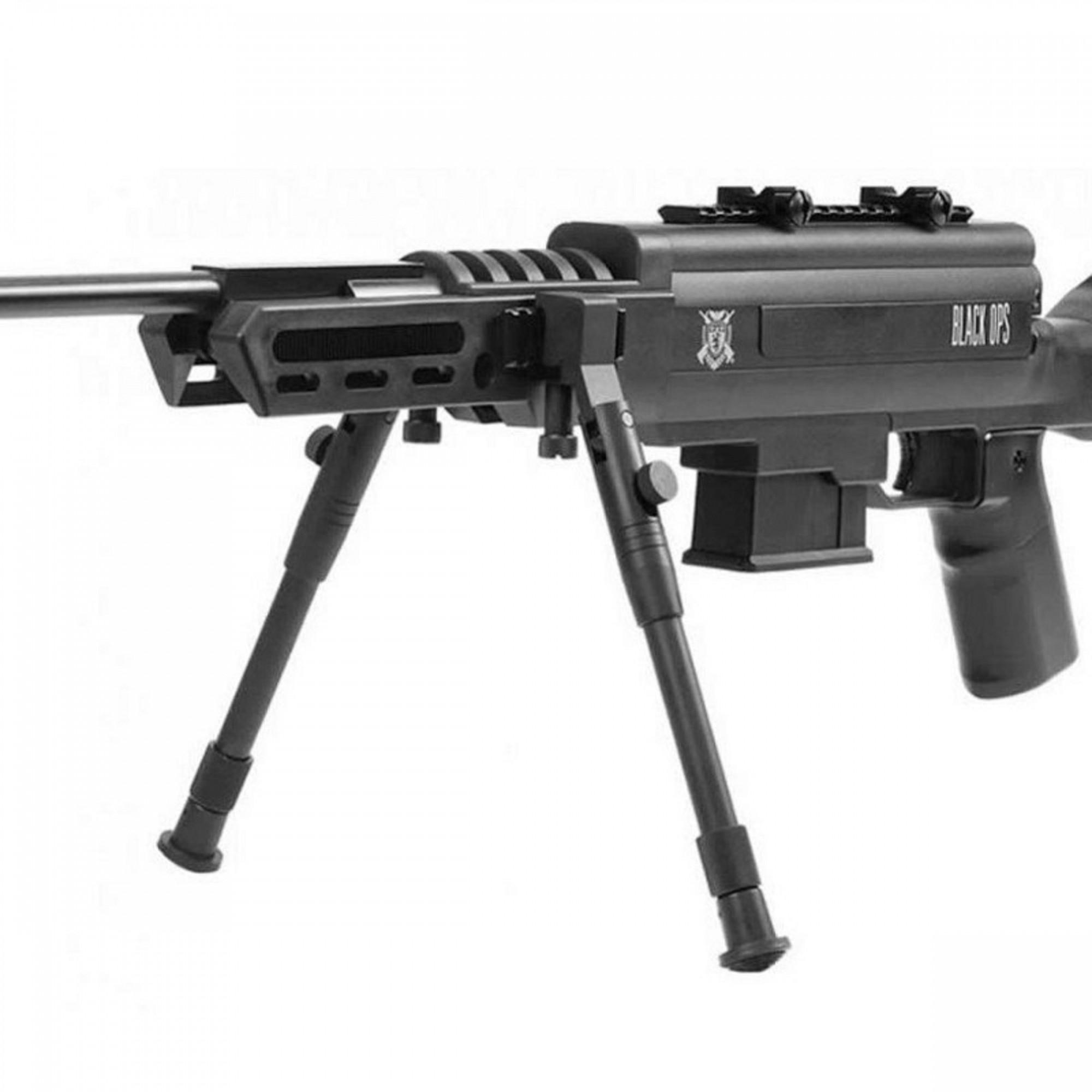 Carabina de Pressão Black Ops Sniper Nitro Gás Ram 5.5mm Com Luneta