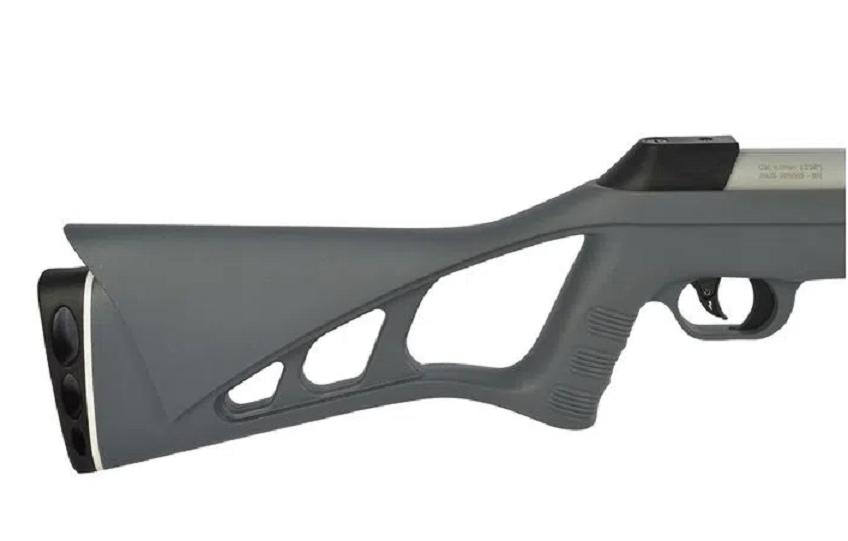 Carabina de Pressão CBC 6mm Nitro-Six Cromada Cinza