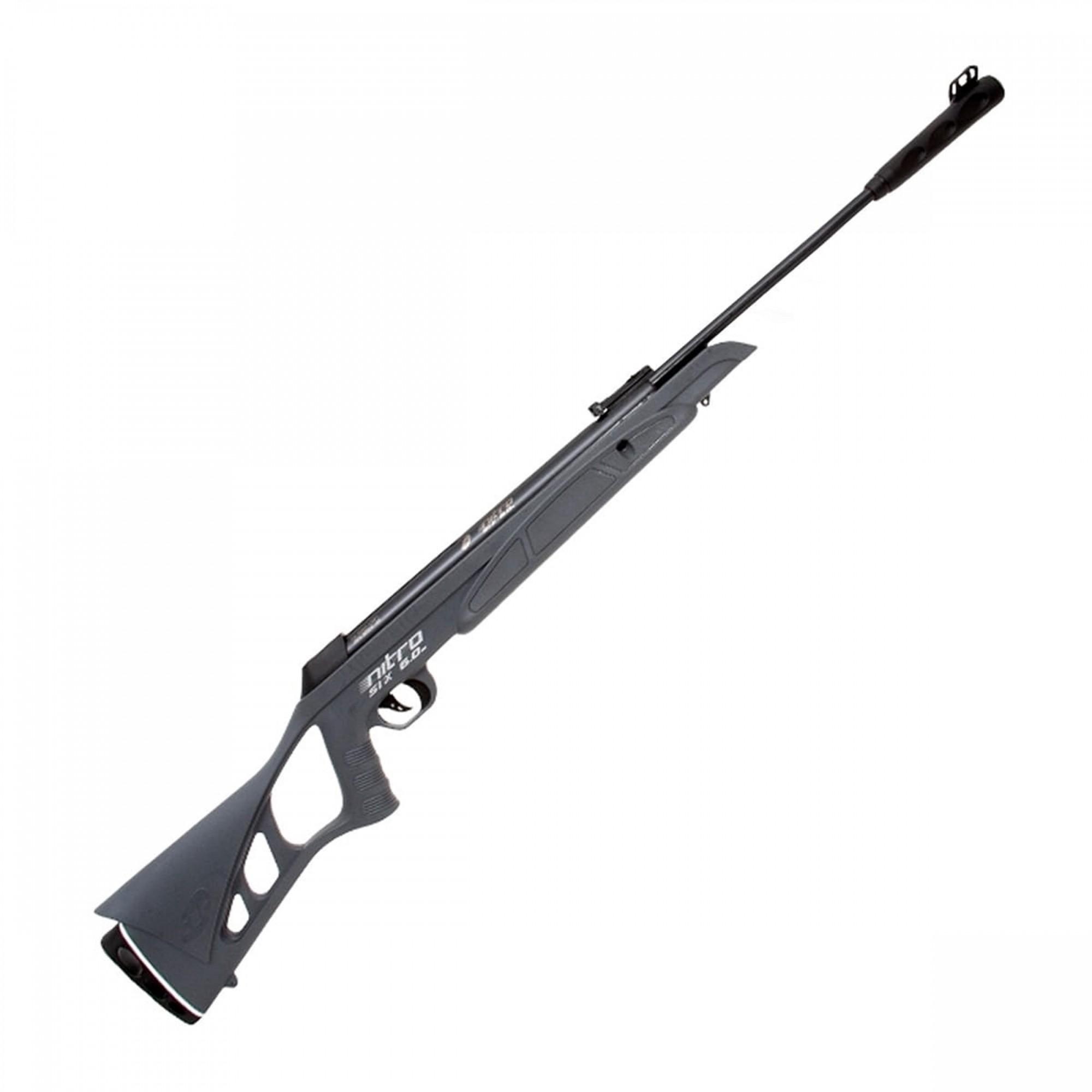 Carabina de Pressão CBC 6mm Nitro-Six Oxidada Cinza