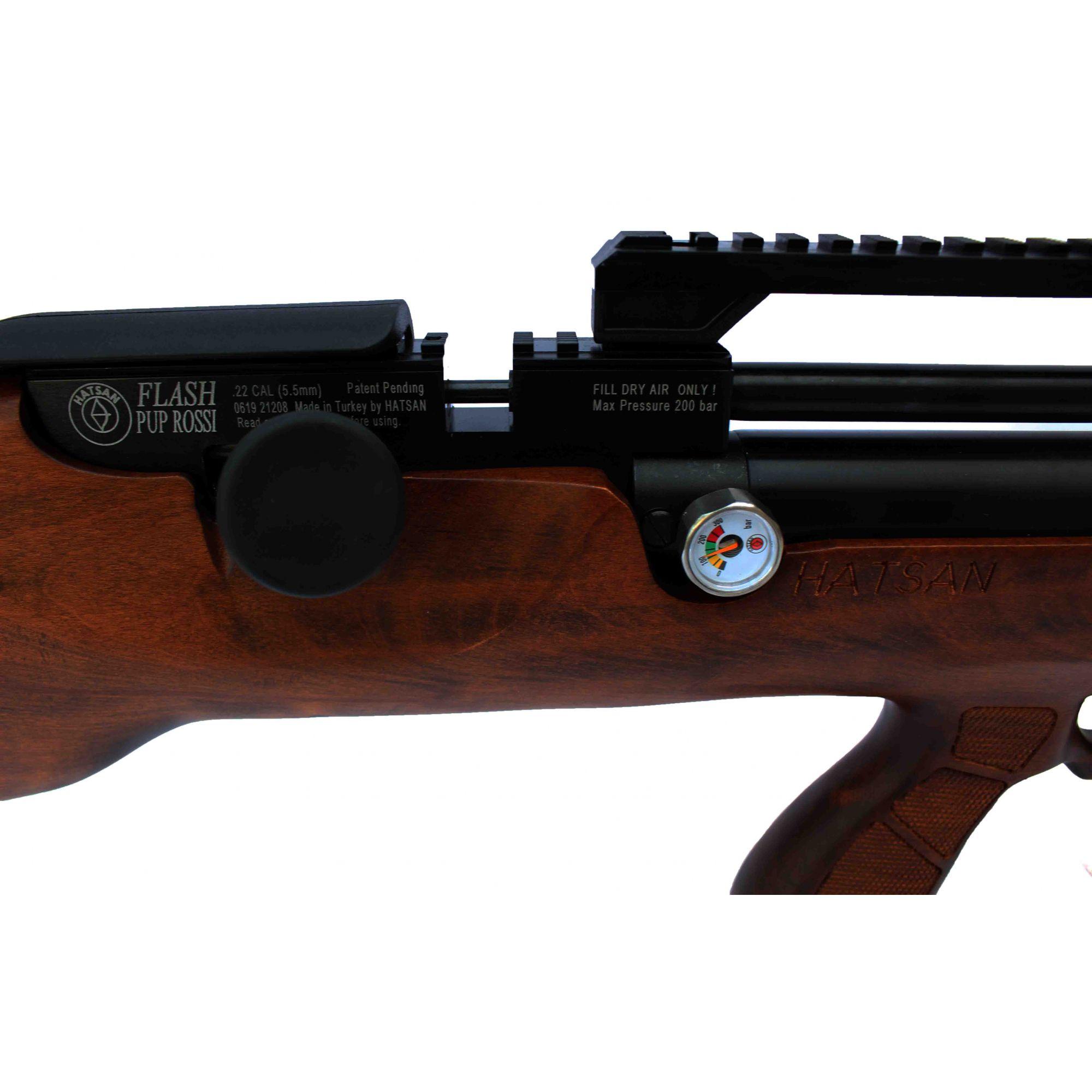Carabina de Pressão PCP Hatsan Flashpup Wood 5,5mm