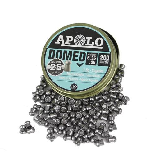 Chumbinho Apolo Domed 6,35mm 200 Und