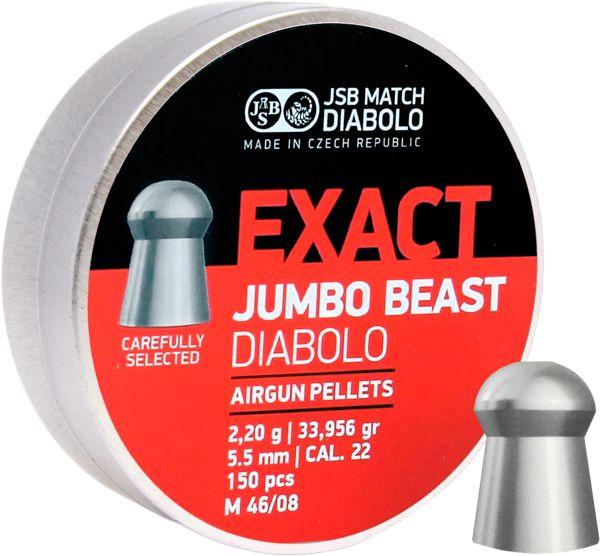 Chumbinho JSB Exact Jumbo Beast Diabolo 5.5mm 150 Und.
