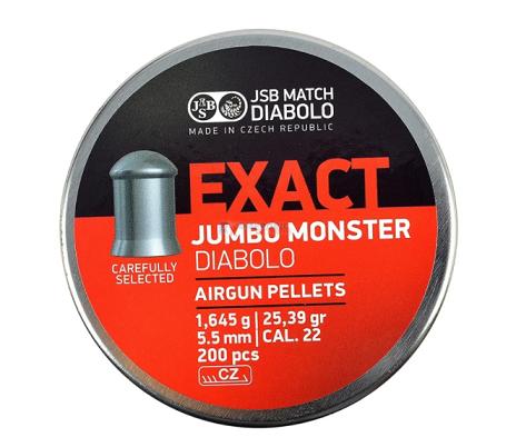 Chumbinho JSB Exact Jumbo Monster Diabolo 5,5mm 200 Und