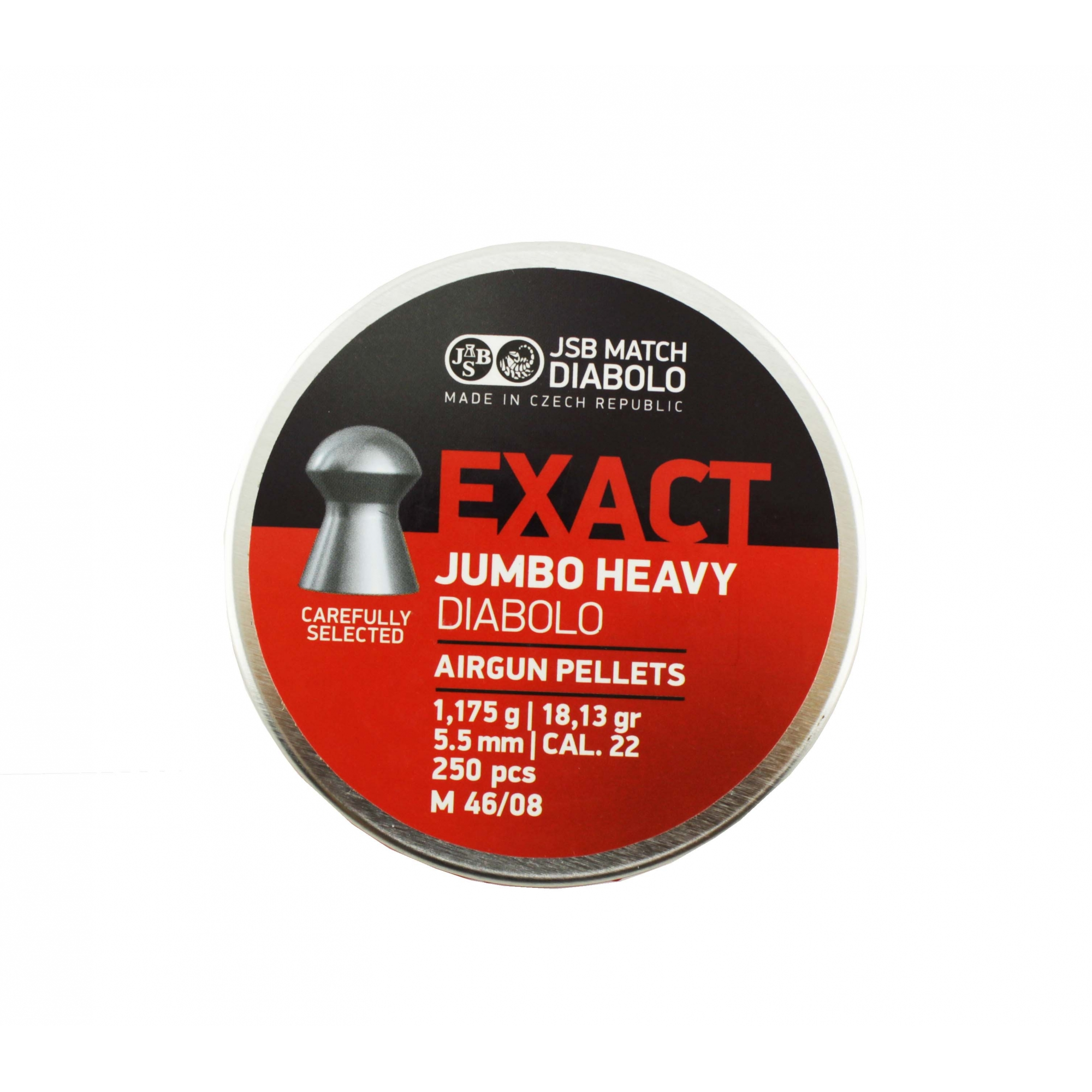 Chumbinho JSB Exact Jumbo Heavy Diabolo 5,5mm 250 Und.