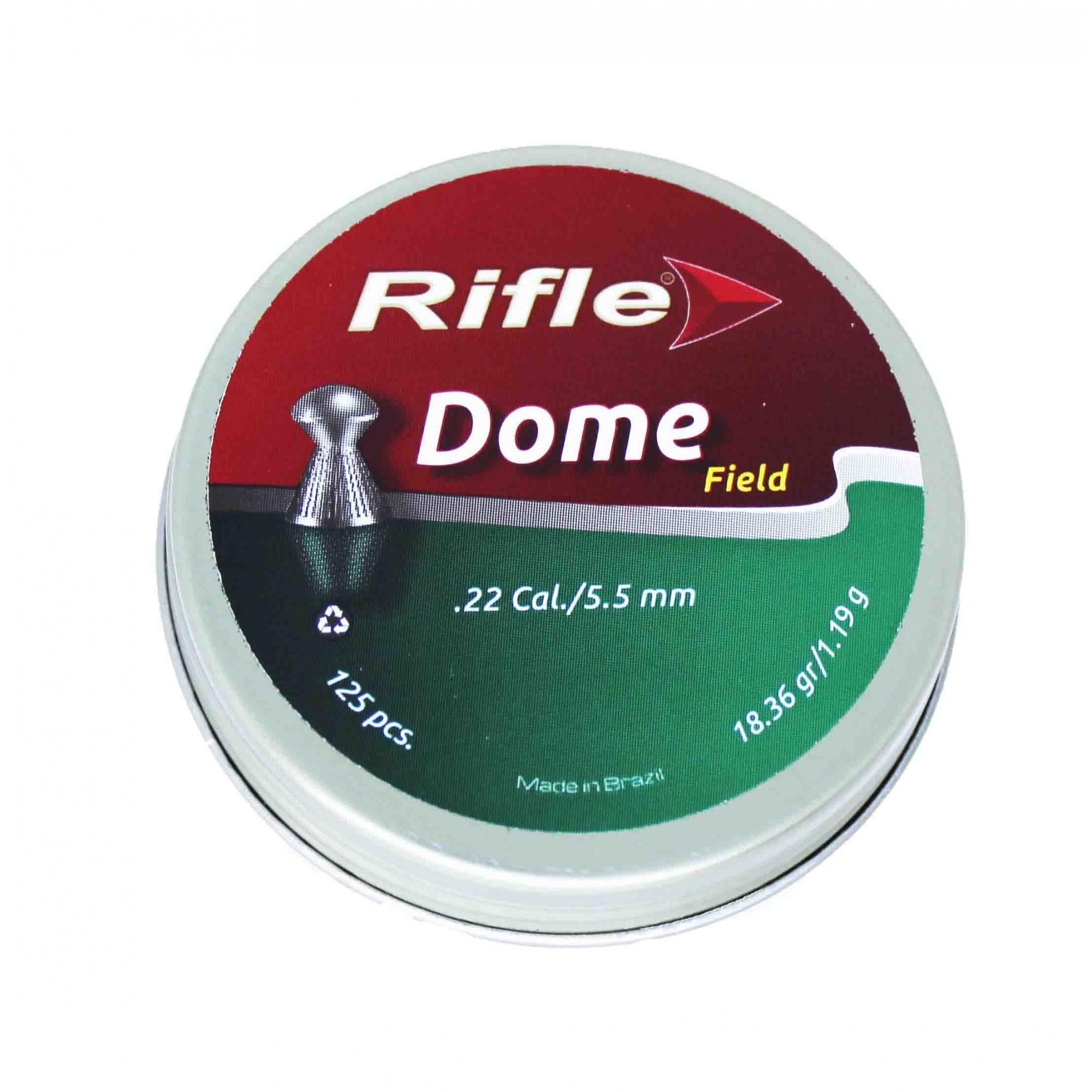 Chumbinho Rifle Dome Field 5.5mm .22 Cal 125 Und.