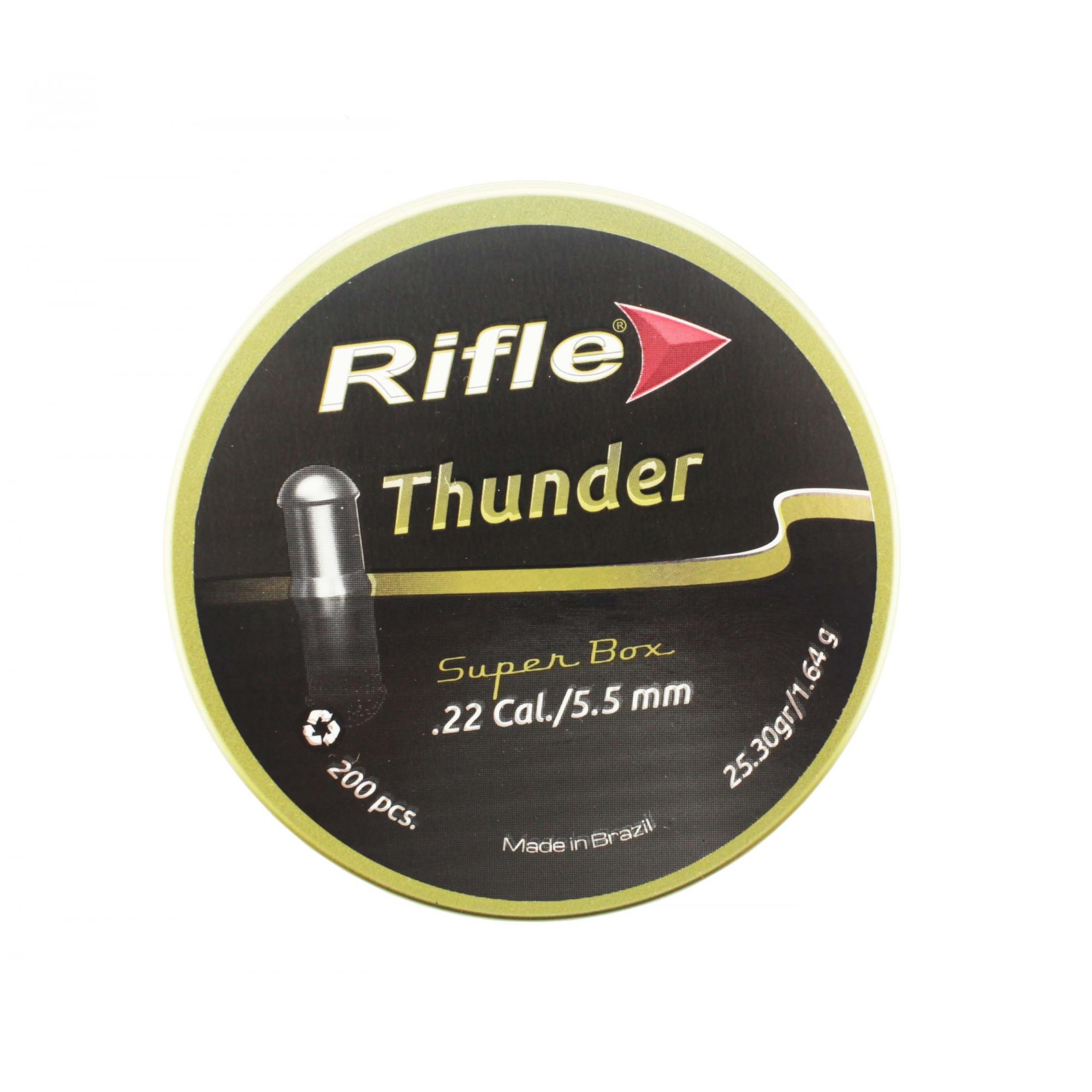 Chumbinho Rifle Thunder Super Box 5,5mm C/ 200 Und