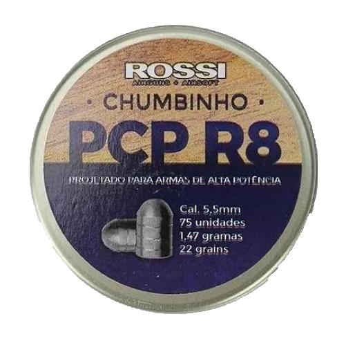Chumbinho Rossi R8 PCP 5.5mm 75 Und.