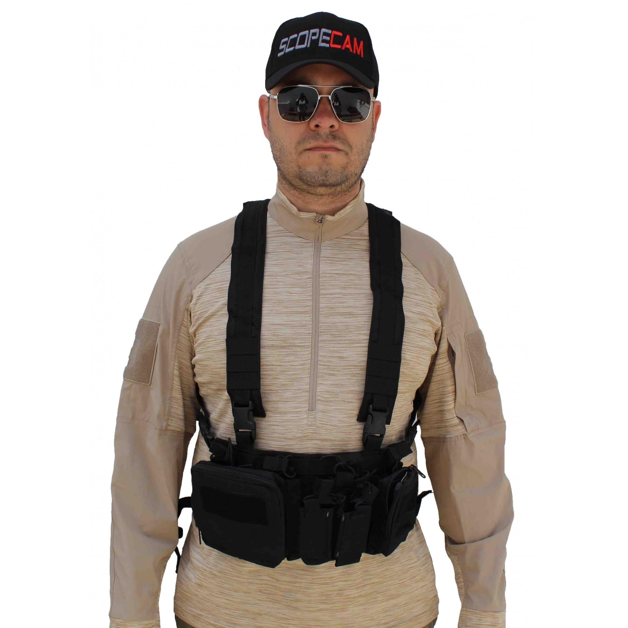 Colete Chest Rig Tático Militar Airsoft Sniper Com Bolsos