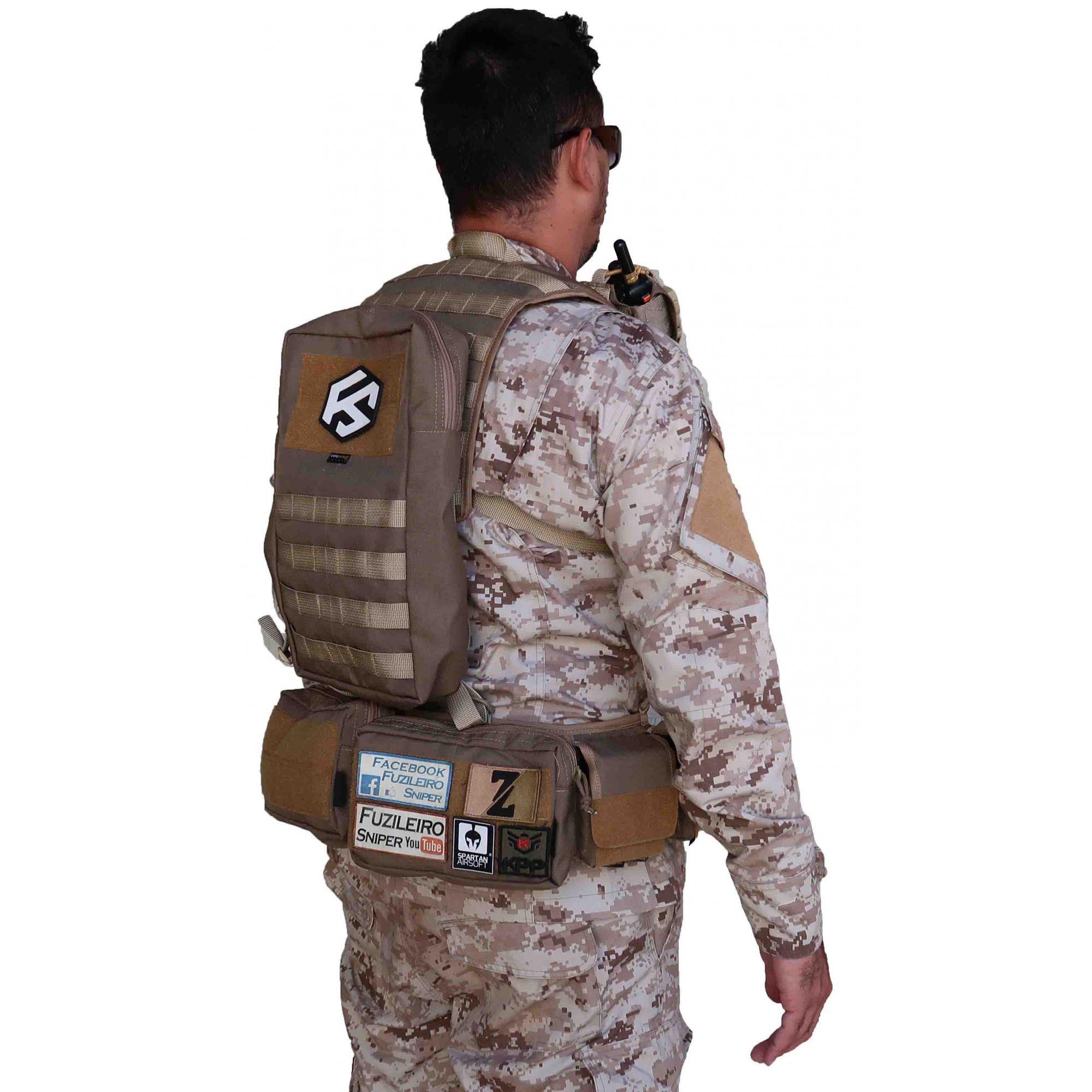 Colete Fuzileiro Sniper Kit Guerra - Pronta Entrega