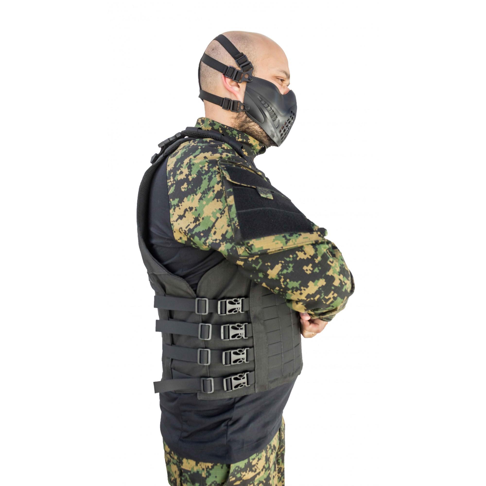 Colete Modular Protection X-Five Preto