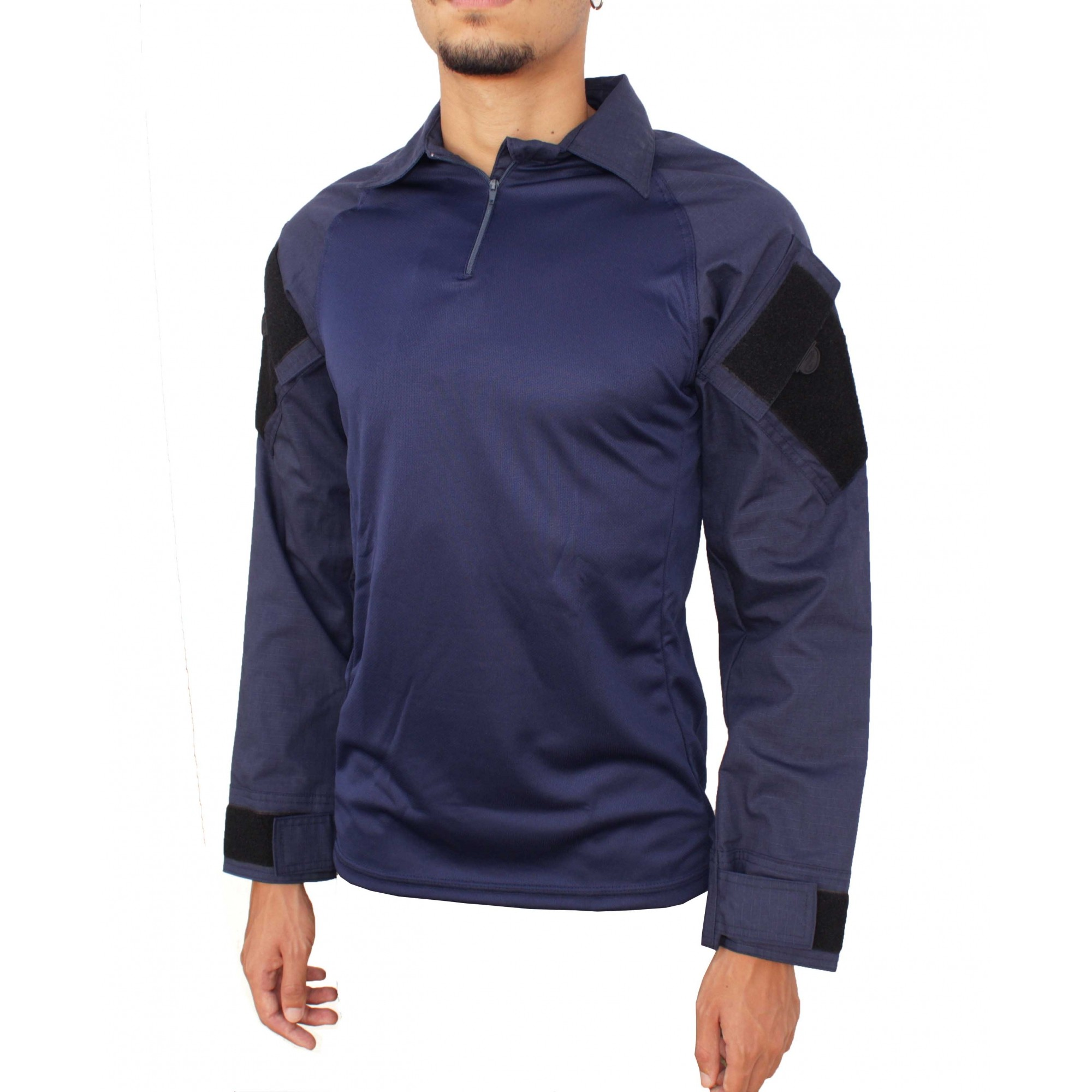 Combat Shirt Raglan Azul Fox Boy