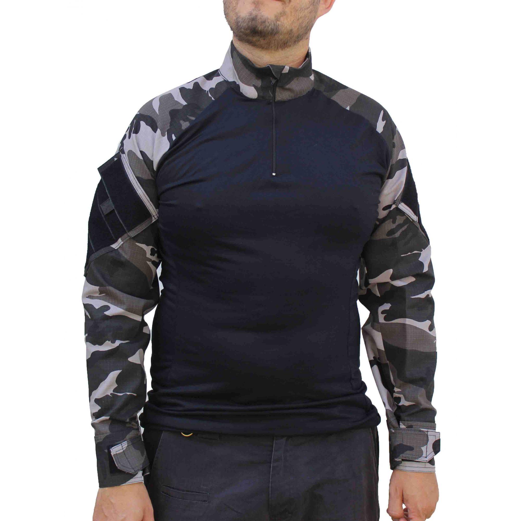 Combat Shirt Tática - Urbano Black