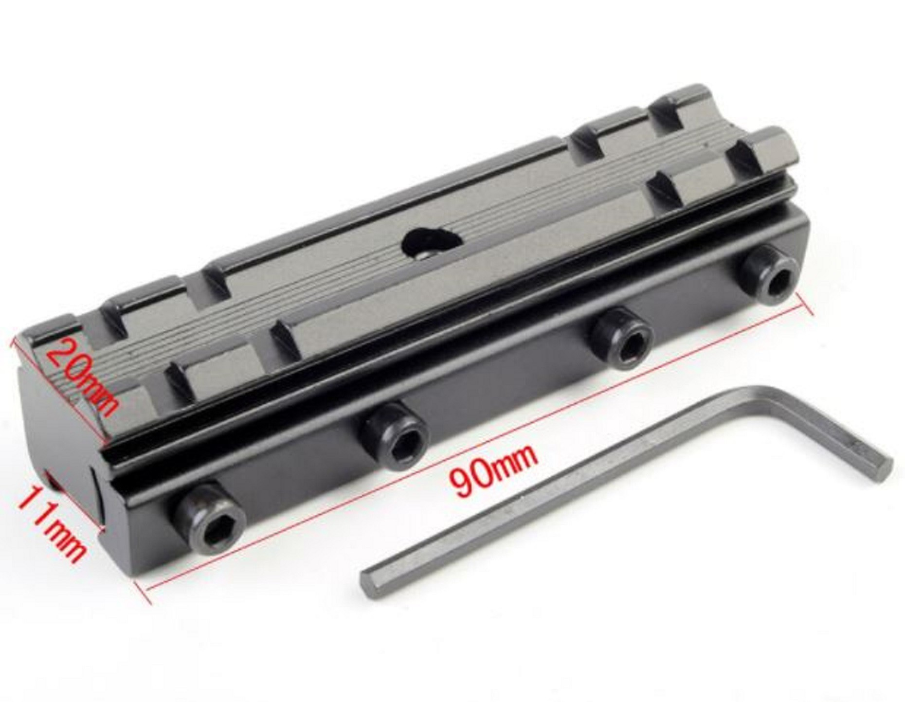Elevador de Trilho Aluminio 11mm e 20mm