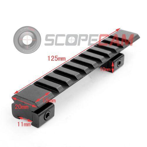 Elevador De Trilho 10 Slots 125mm (11mm Para 20mm)