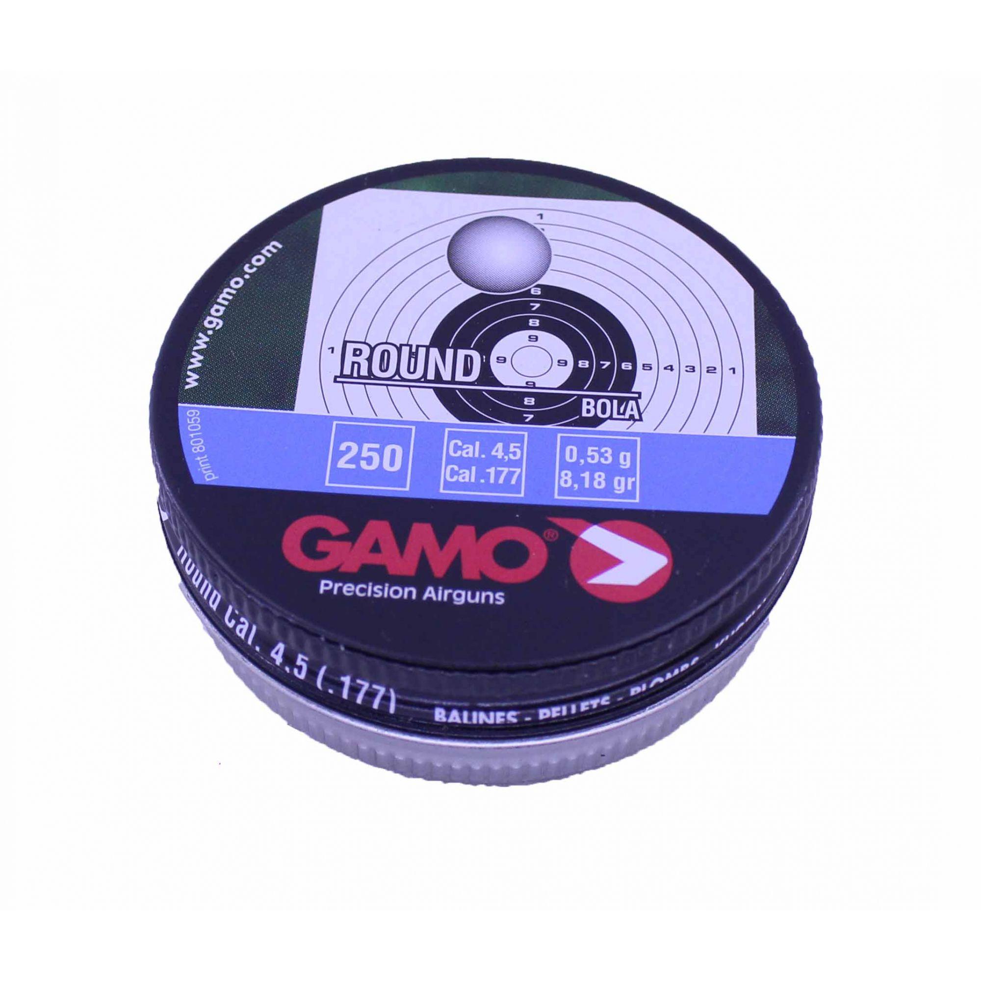 Esferas de Chumbo Gamo Round Bola 4,5mm/ Cal .177