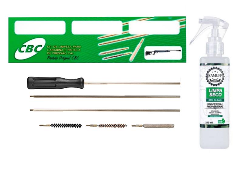 Kamuff Absoluto 210ml + Kit de Limpeza Cbc Para Armas de Pressão