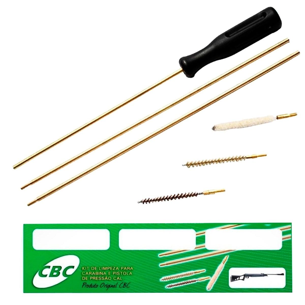 Kit de Limpeza Para Carabina e Pistola de Pressão ou Rifle Cal .22 -  4,5mm/ 5,5mm/ 6mm