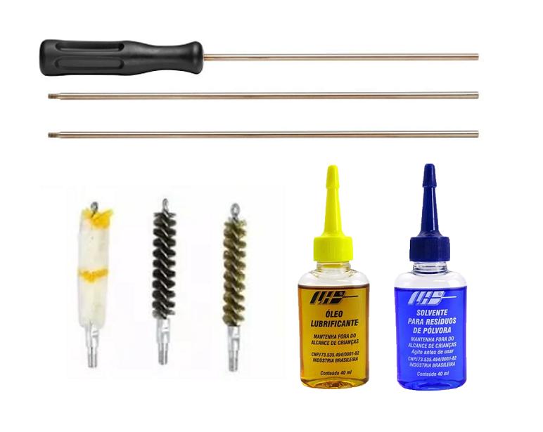 Kit de Limpeza Para Carabina Calibre 38