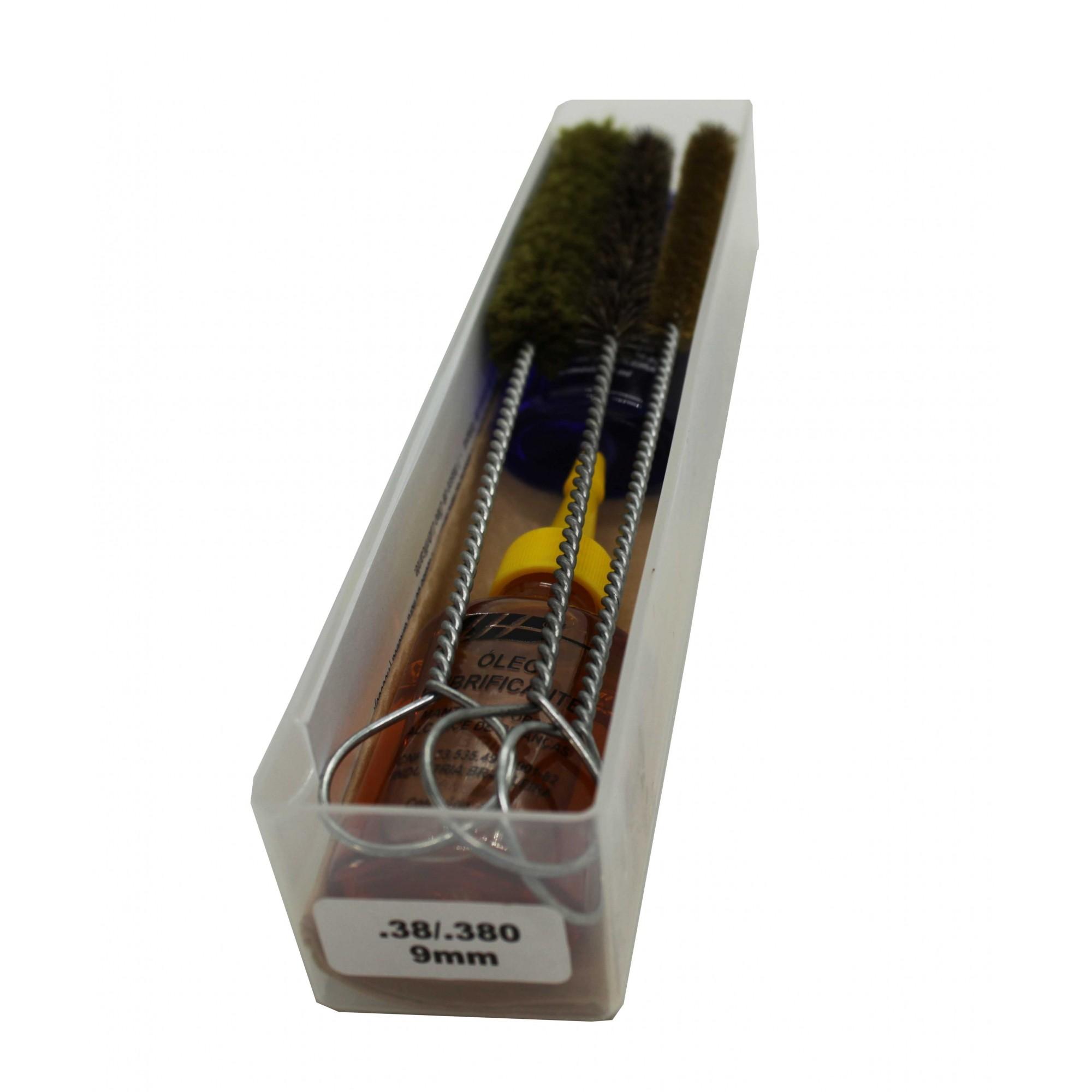 Kit de Limpeza Standard Para Revolver Calibre .22 .38 .40