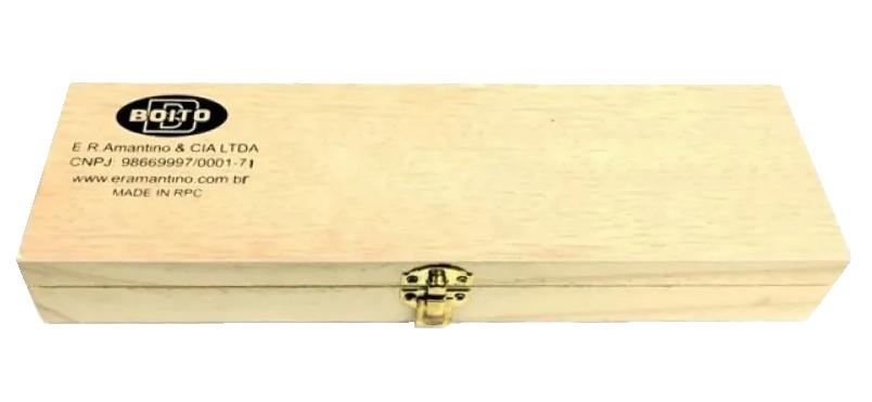 Kit Limpeza Boito Para Armas Cal. 20 Com Estojo de Madeira