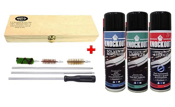 Kit Limpeza e Manutenção Completo 300ml Para Armas Cal.20
