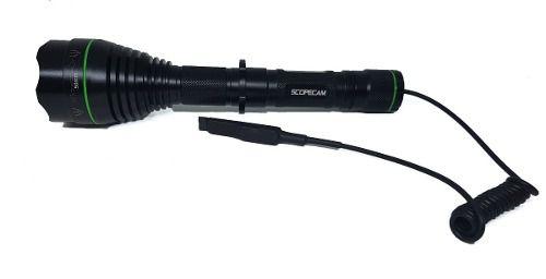 Lanterna Infravermelho 50mm 850nm P Caça  +acionador+bateria