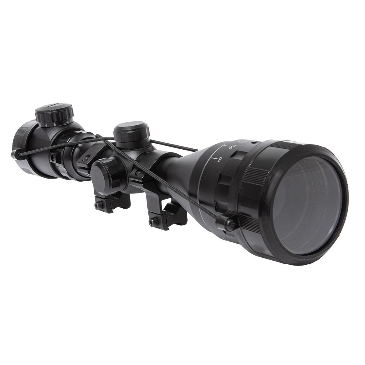 Luneta 4-16x50 AOE Ajuste Parallax Suporte Mount 11mm FXR