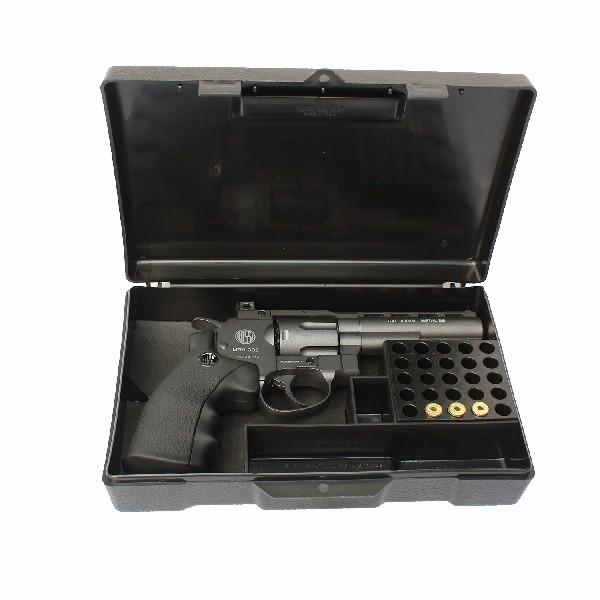 Maleta Case para Pistola/ Revólver Com Porta Munição