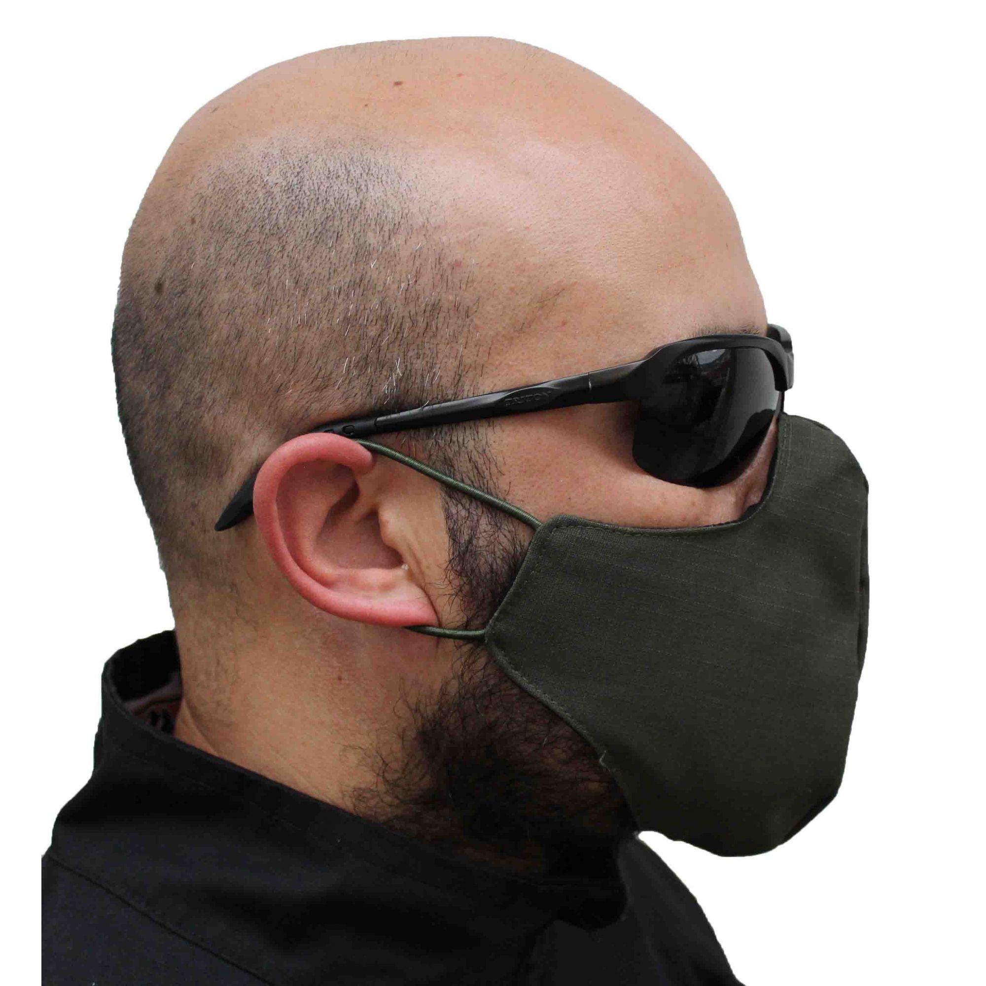 Máscara Airsoft Camuflada Proteção Covid-19