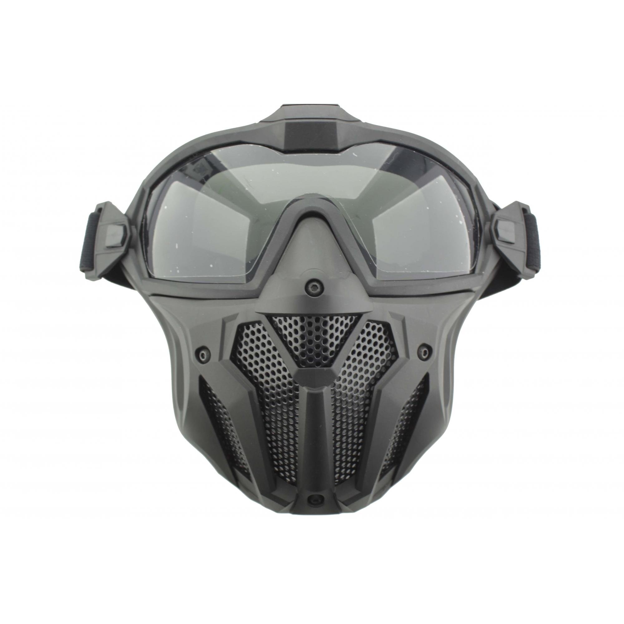 Máscara Airsoft Preta com Cooler