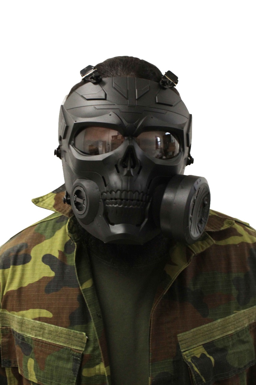 Máscara Airsoft Preta com Cooler Grande Frontal
