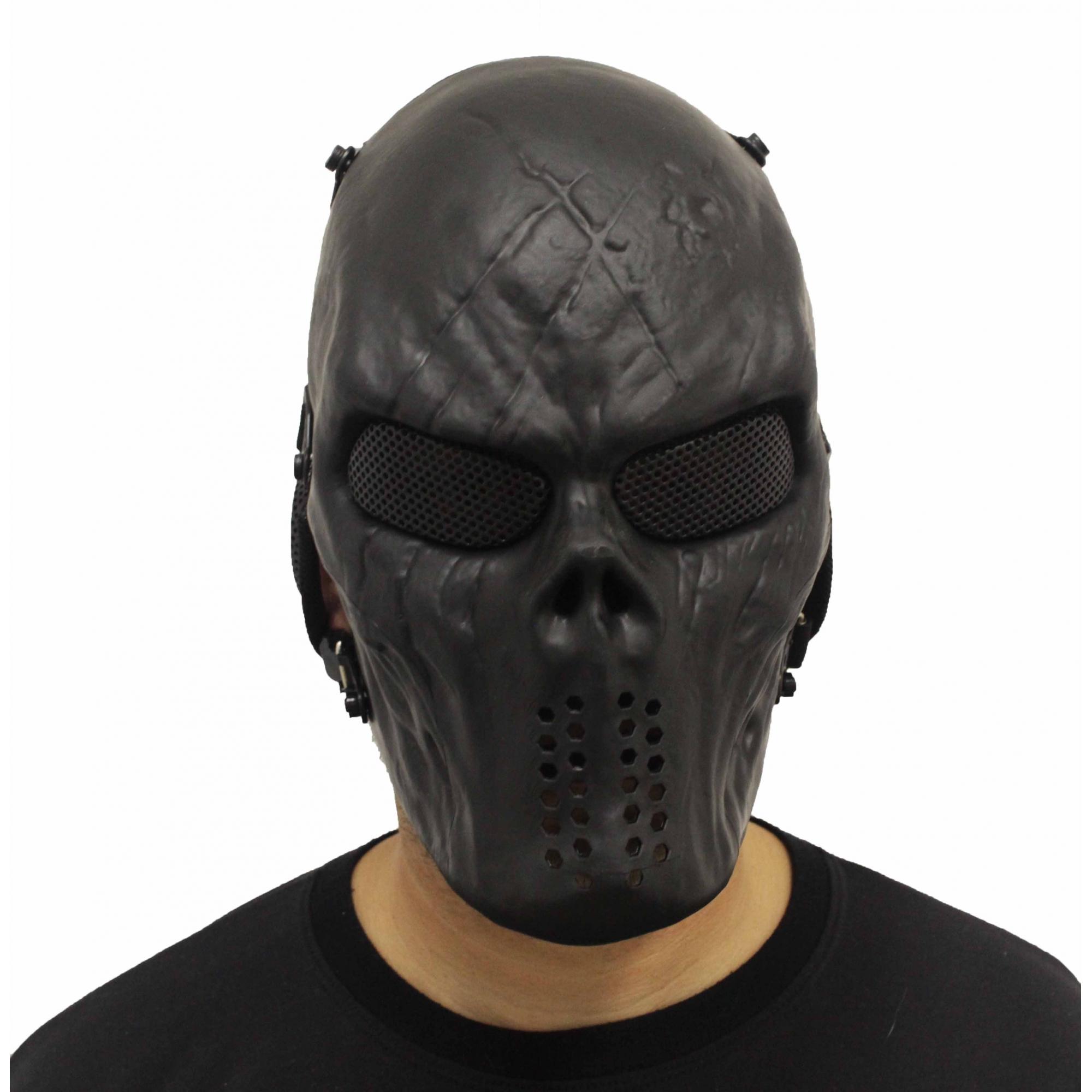 Mascara Airsoft Preta Proteção Total
