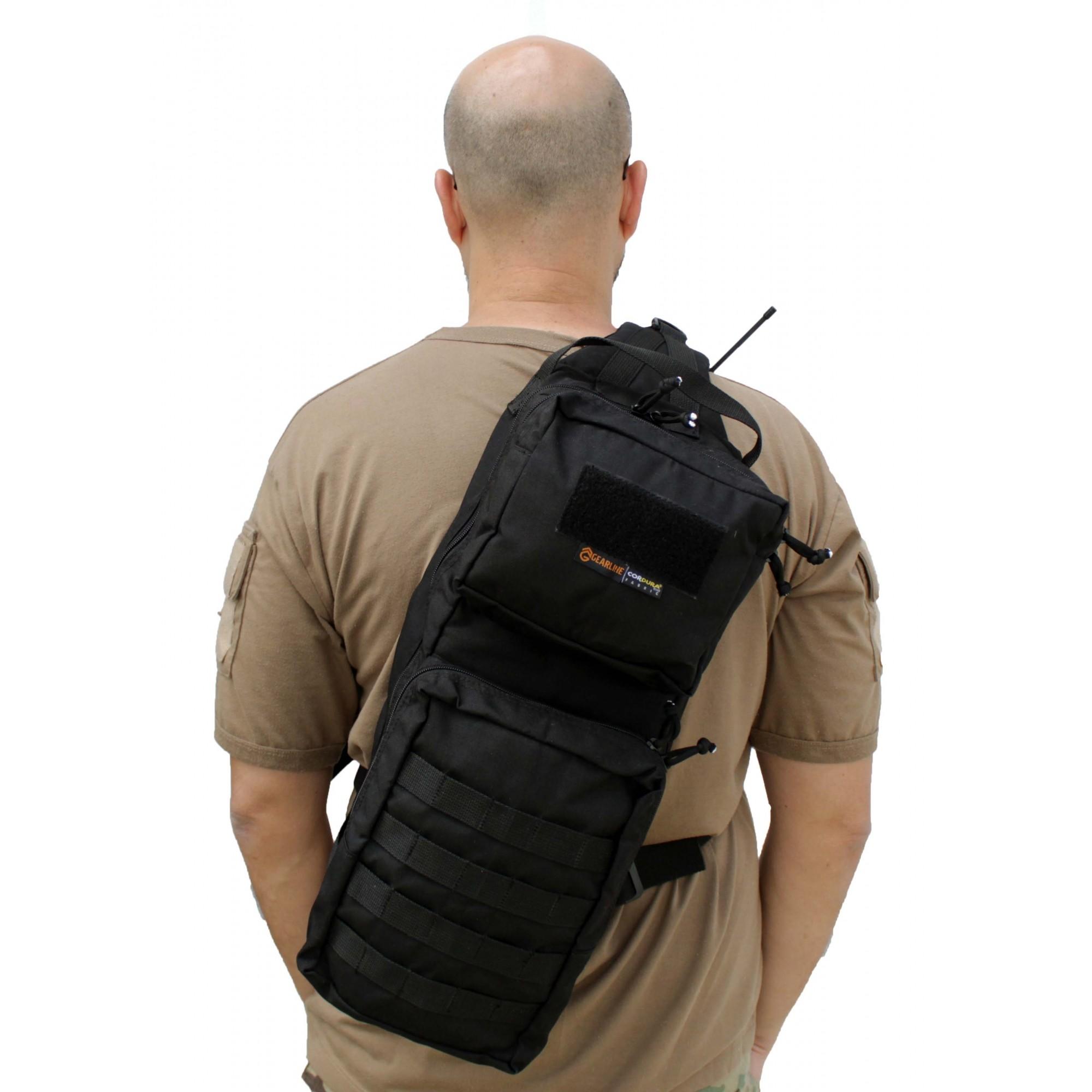 Mochila Tática Militar em cordura Go-Bag T2 Preta PDW