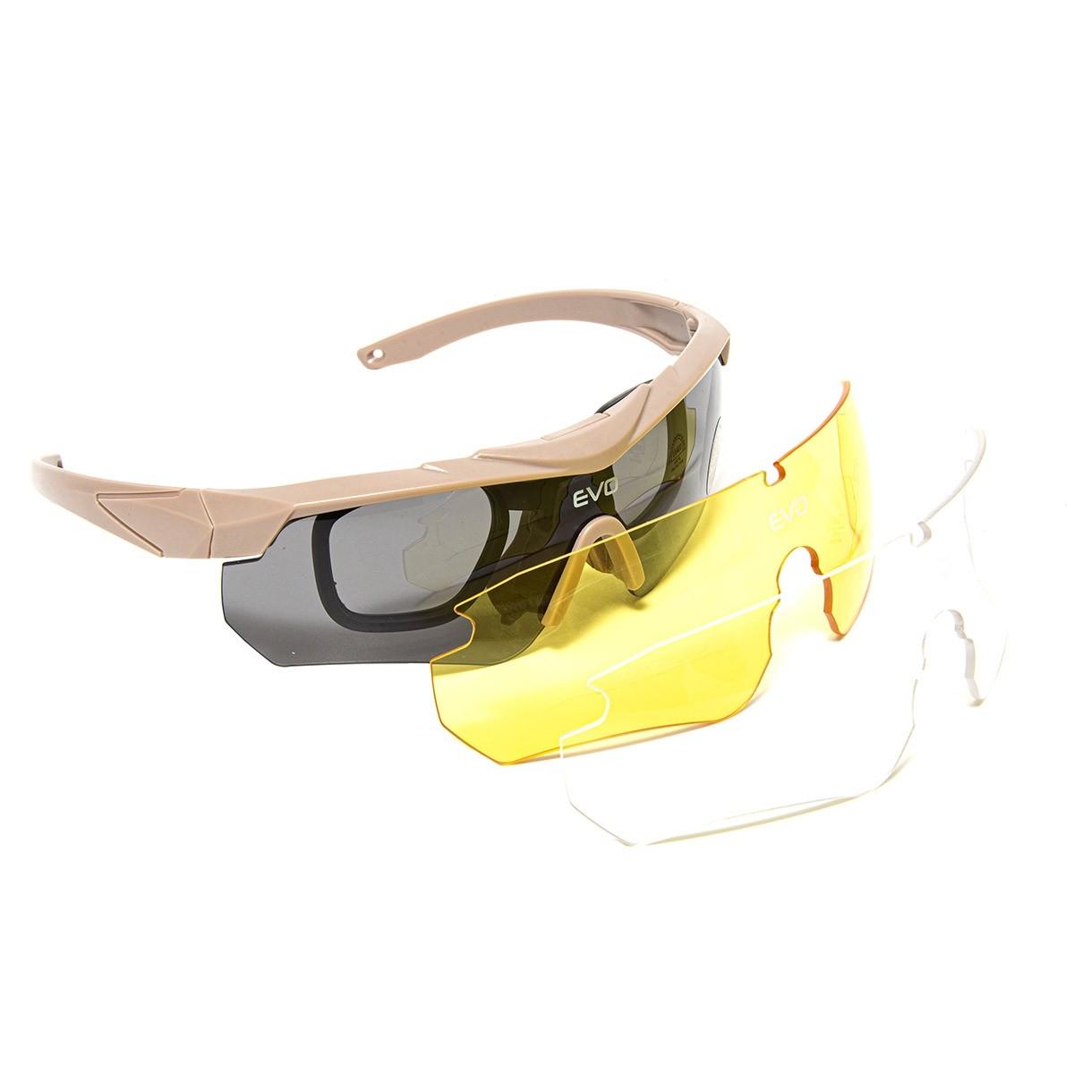 Óculos Tático Militar Nighthawk Tan Evo Tactical Airsoft