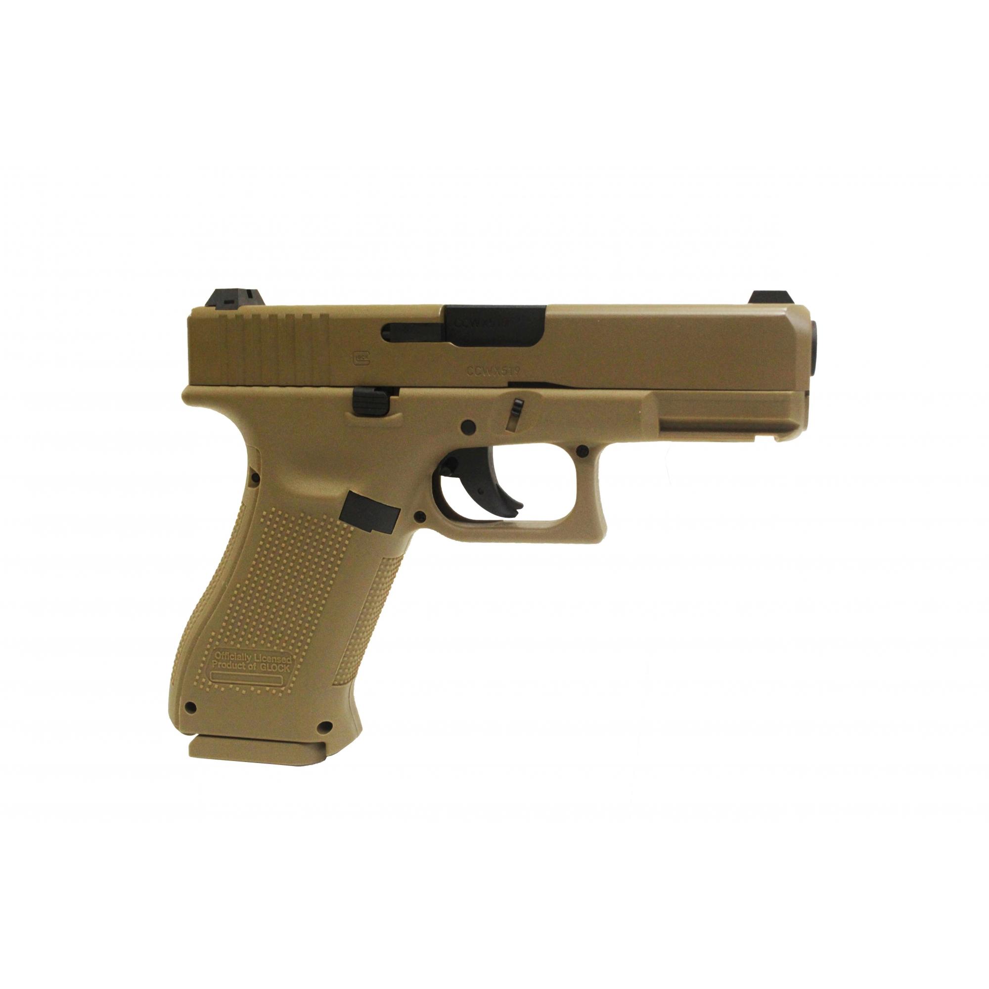 Pistola de Pressão Glock G19x Tan Co2 4.5mm
