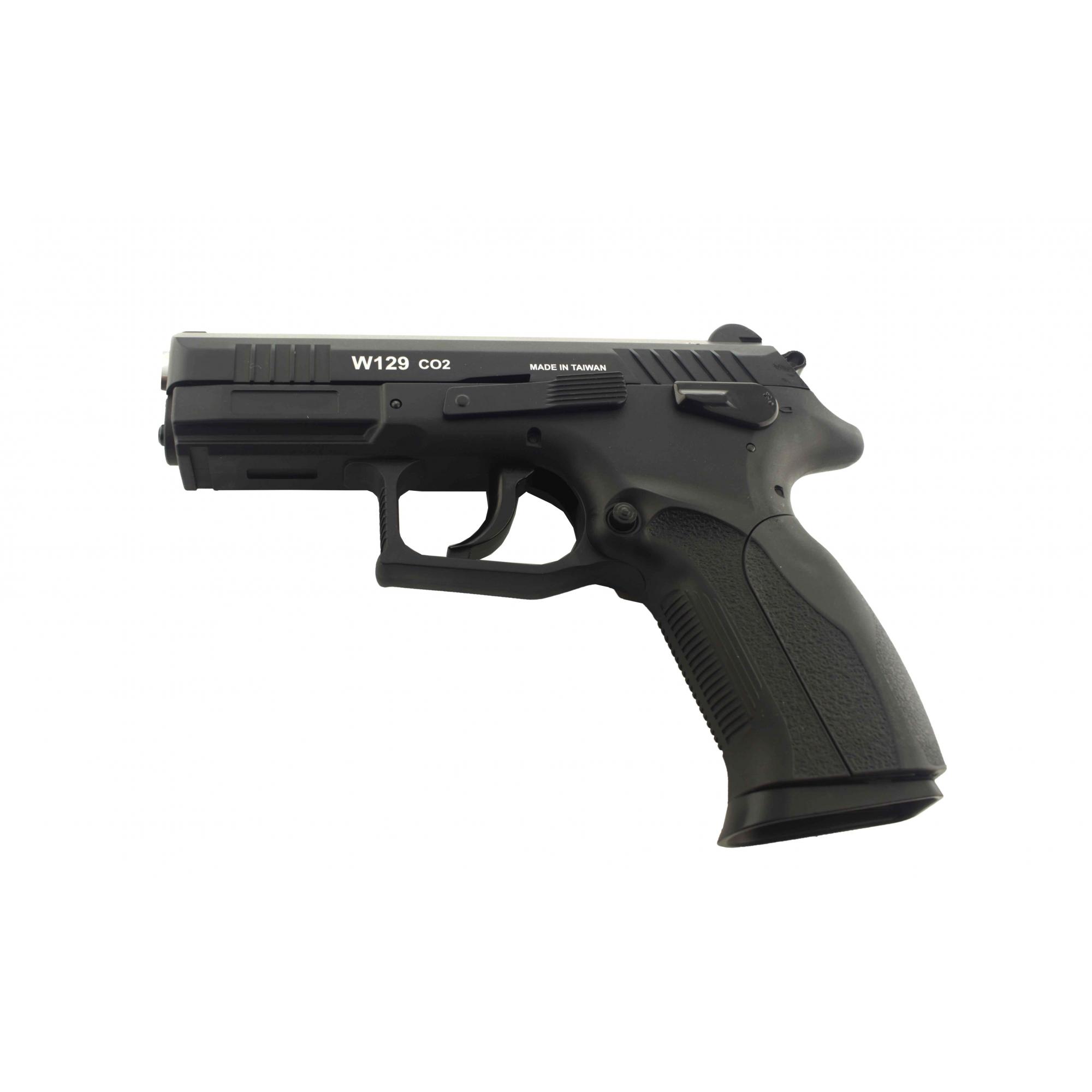 Pistola de Pressão Wingun W129 Slide Metal CO2 4,5mm